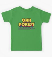 Oak Forest, Illinois | Retro Stripes Kids Tee