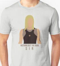 "Battlestar Galactica - Starbuck ""Nothing But The Rain, Sir"" Tee (No raindrops) Unisex T-Shirt"