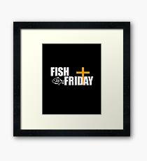 Fish Friday Design for Lent Framed Print