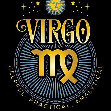 Virgo Symbol, Astrology, Zodiac, Horoscope by gorillamerch