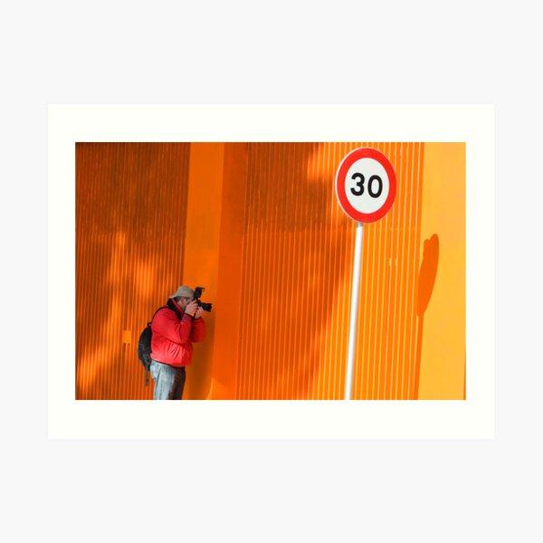 In Search of Orange  Art Print