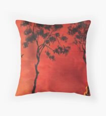 Bush fire Throw Pillow