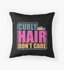 Lockiges Haar interessieren sich nicht Schönes welliges Haar Bodenkissen