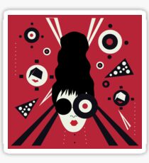 Bulls Eye Girl Sticker