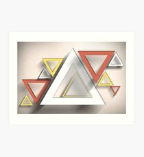 Modern Art Smart and Stylish Rectangles Art Print