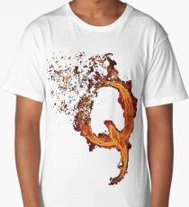 QAnon Fiery Q For Conspiracy  Lightning Theorist T-Shirt by Scralandore Design Long T-Shirt