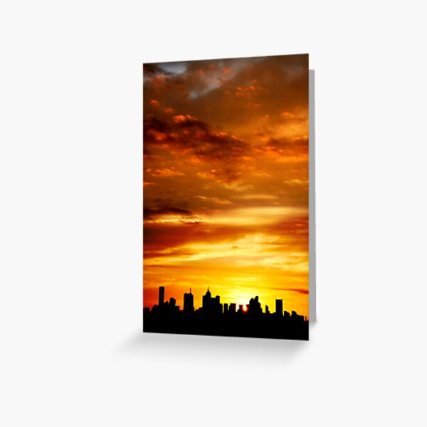 Melbourne Sunset Greeting Card