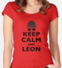 Keep Calm and Leon Women's Fitted Scoop T-Shirt