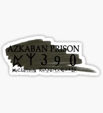 Sirius Azkaban Number Sticker