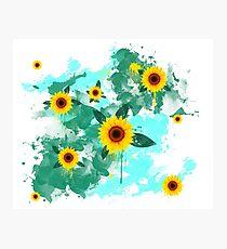 gira sol aquarela Photographic Print
