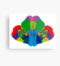 Rorschach Tintenklecks Metalldruck