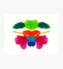 Blüten Tintenklecks Rorschach Kunstdruck