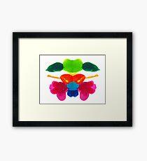 Blüten Tintenklecks Rorschach Gerahmtes Wandbild