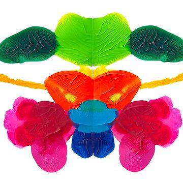 Blüten Tintenklecks Rorschach von TintenklecksArt