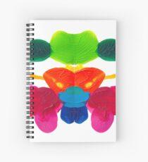 Blüten Tintenklecks Rorschach Spiralblock