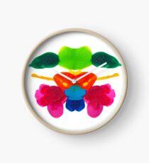 Blüten Tintenklecks Rorschach Uhr