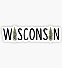 wisconsin pine Sticker