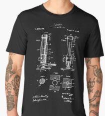 Bunsen Burner Patent- Awesome Science Design Men's Premium T-Shirt