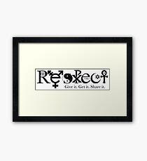 Respect (Coexist Style) Framed Print