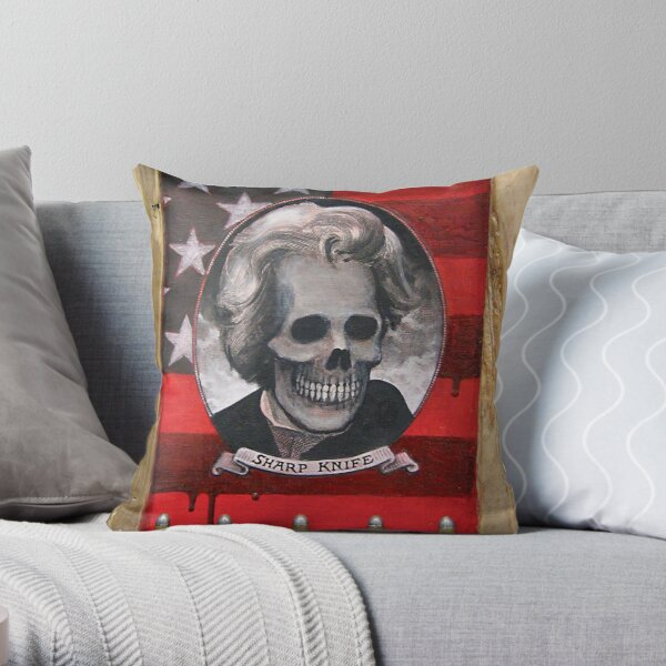 Sharp_Knife Throw Pillow