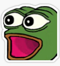 POGGERS Twitch Emote Sticker