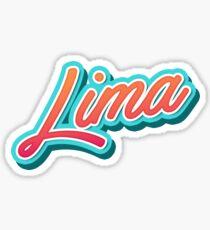 Lima Typography Sticker