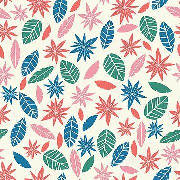 Retro flowers pattern by NatGonzalez