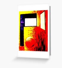 Abstract  Primary colours  Greeting Card