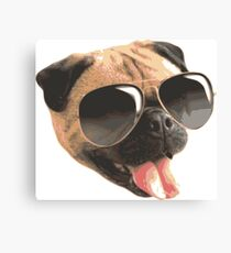 Sunglasses Pug Canvas Print