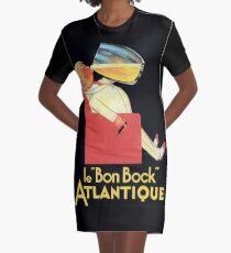 Vintage Beer Poster Graphic T-Shirt Dress