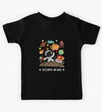 Occupy Mars. Cartoon, Comic Illustration Kids Tee