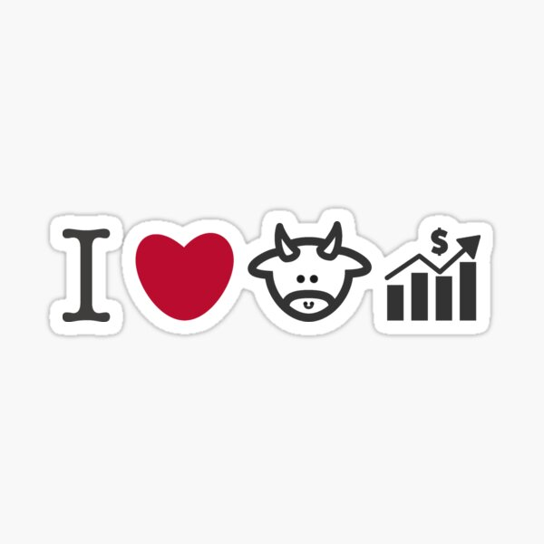 Amo los mercados de Bull Pegatina