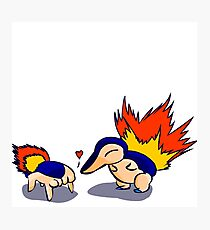 Pokemon Half-Life 2 Cyndaquil and Headcrab Playdate Photographic Print
