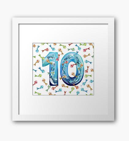 Number Ten Koi Framed Print