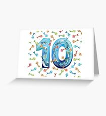 Number Ten Koi Greeting Card