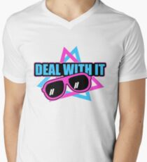 Deal With It Shades/Sunglasses Men's V-Neck T-Shirt