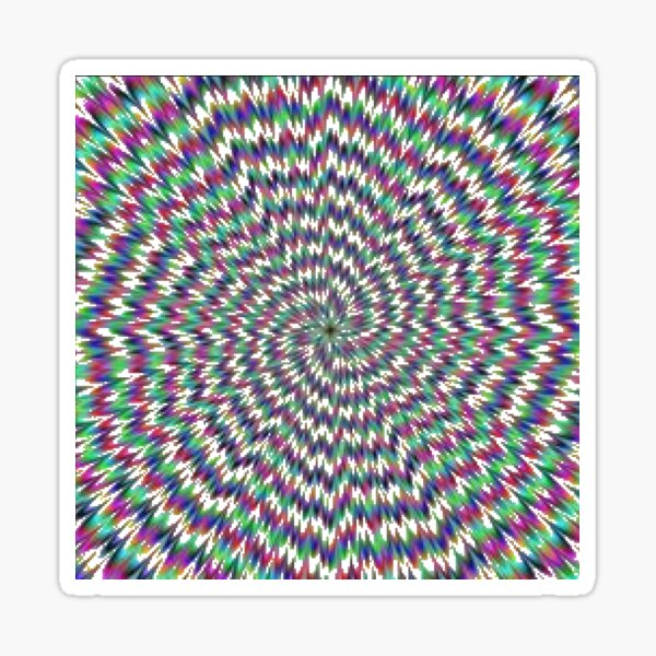 Optical Illusion, delusion, fantasy, hallucination, phantasm, phantom, ghost, specter Sticker