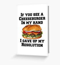 Cheeseburger In My Hand Greeting Card