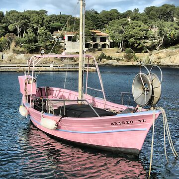 Pink fisher boat by macromagnon