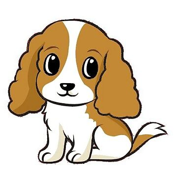 cavalier king charles spaniel blenheim cartoon by marasdaughter