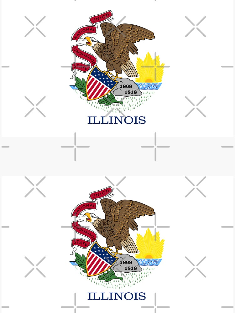 Illinois IL Official State Flag — 2 in 1 by 2states