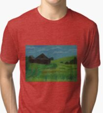 A field with red poppies Tri-blend T-Shirt