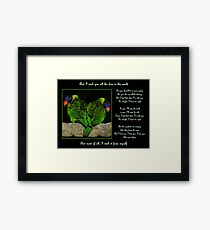 And I Wish You Framed Print