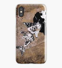 Long Gone Whisper (street art graffiti painting, girl with butterflies) iPhone Case