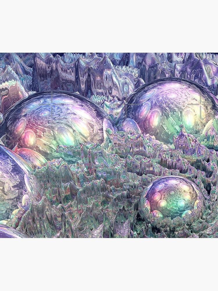 Reflecting Spheres In Space by perkinsdesigns