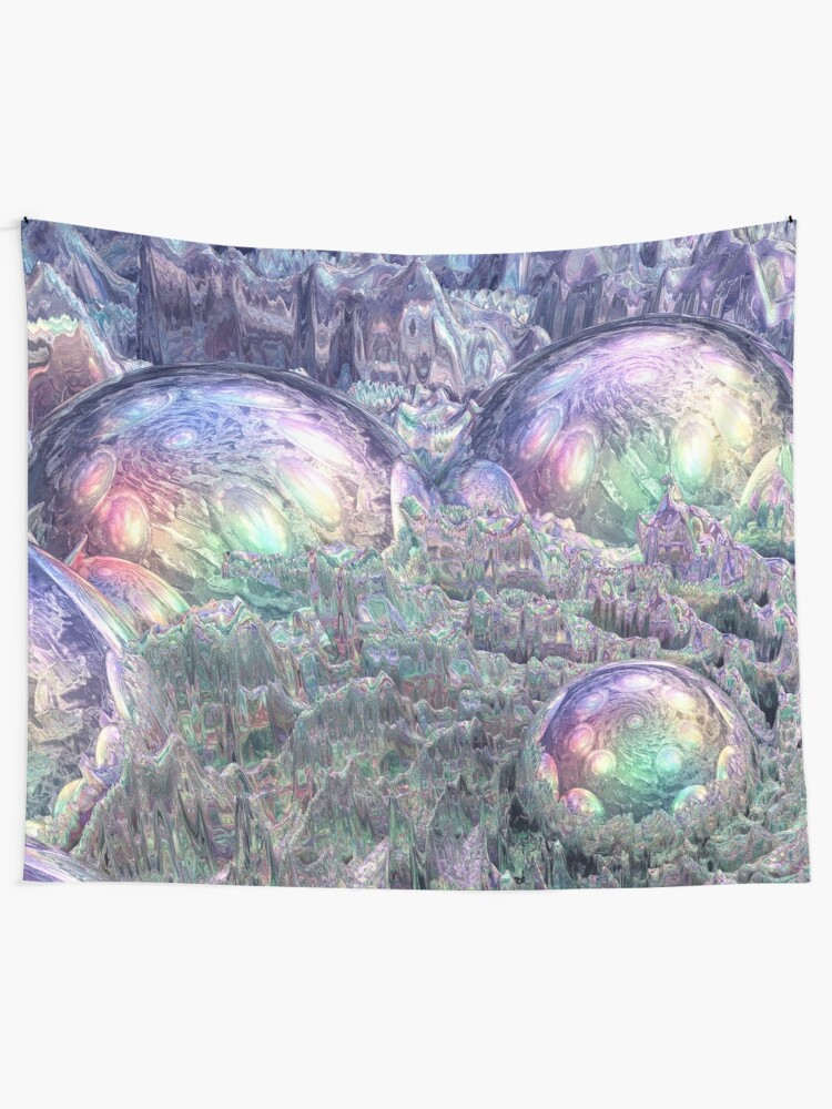 Alternate view of Reflecting Spheres In Space Tapestry