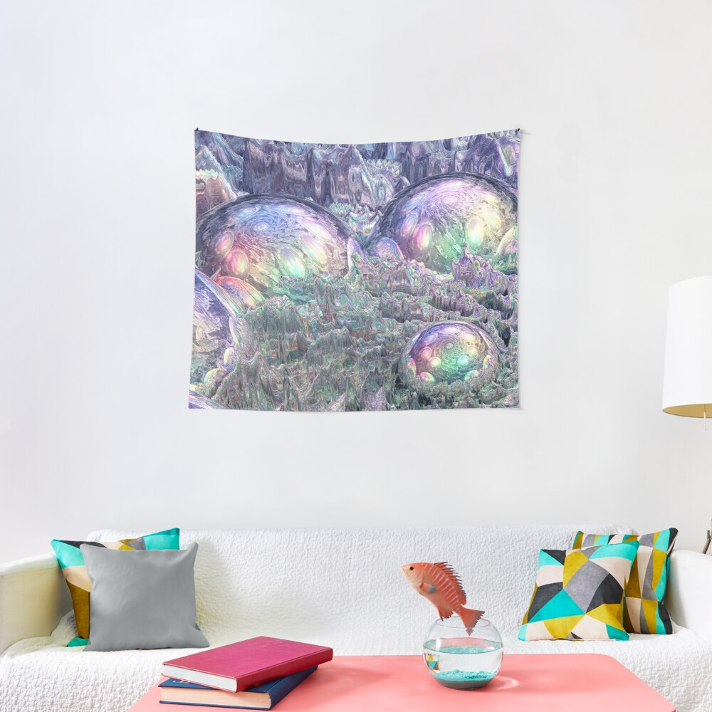 Reflecting Spheres In Space Tapestry