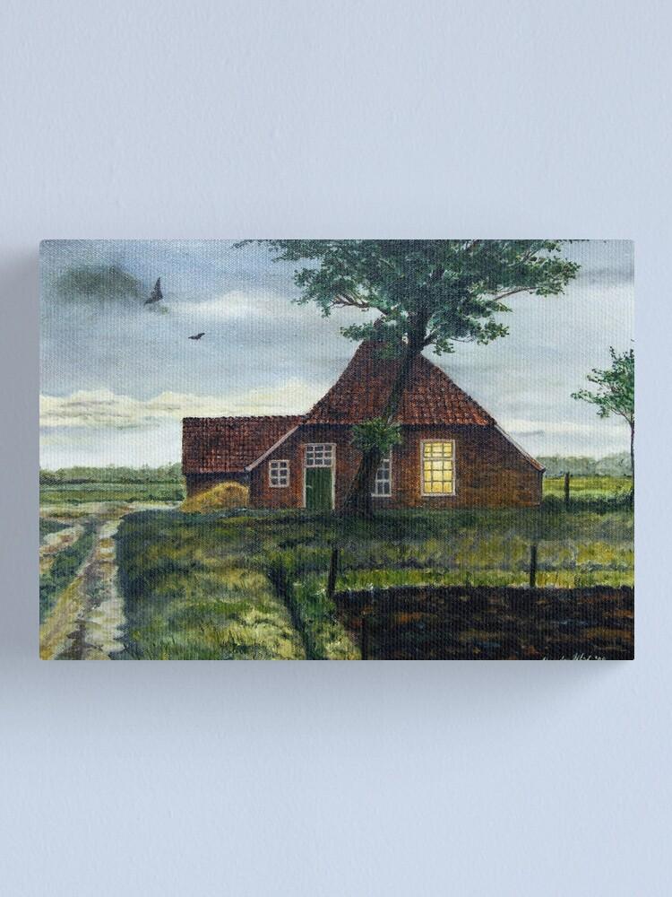 Alternate view of Dutch Farm at Dusk Canvas Print