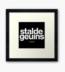 16229-04-BDK – Stable Genius – Obvious (White) Framed Print