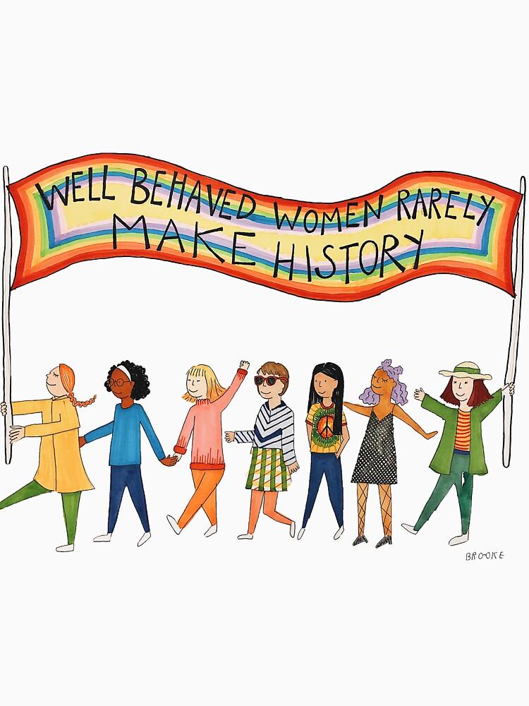 Gut benommene Frauen machen selten Geschichte von slamdunkinc